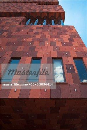 Close-up of MAS Building, Antwerp, Belgium