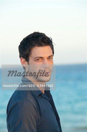Portrait d'homme, Playa del Carmen, Mexique