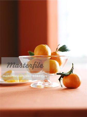 Schale mit Clementinen