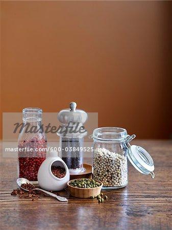Variété de grains de poivre