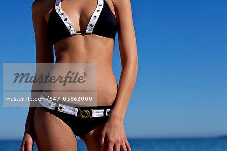 Landscape of a beautiful bikini body