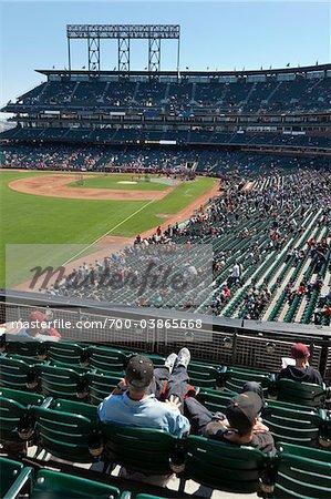 Baseball Game at AT & T Park, San Francisco, California, USA
