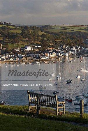 Fowey ville et port de Polruan, Cornwall, Angleterre, Royaume-Uni, Europe