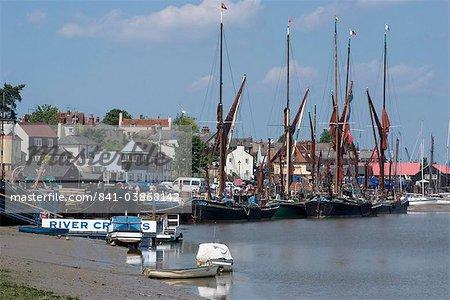 Maldon, une ville de l'estuaire Blackwater connue pour ses Tamise voile Barges, Essex, Angleterre, Royaume-Uni, Europe