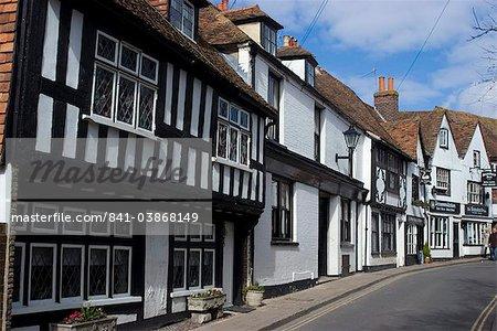 La High Street, Rye, East Sussex, Angleterre, Royaume-Uni, Europe