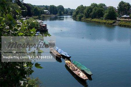 Blick auf die Themse von Richmond Bridge, Richmond, Surrey, England, Vereinigtes Königreich, Europa