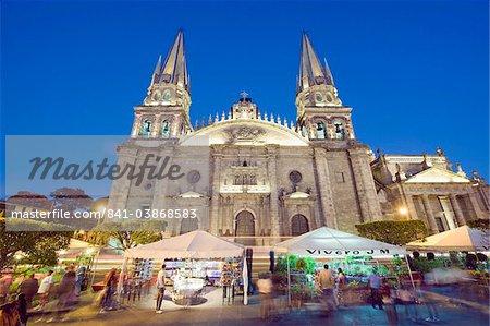 Cathédrale de la Plaza de Armas, à Guadalajara, au Mexique, en Amérique du Nord