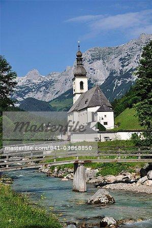 Église de Ramsau, Berchtesgadener Land, Bavière, Allemagne, Europe