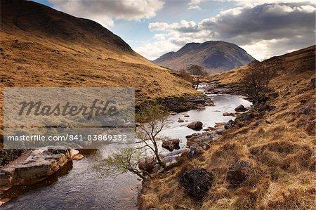 Glen Etive, near Glen Coe (Glencoe), Highland region, Scotland, United Kingdom, Europe
