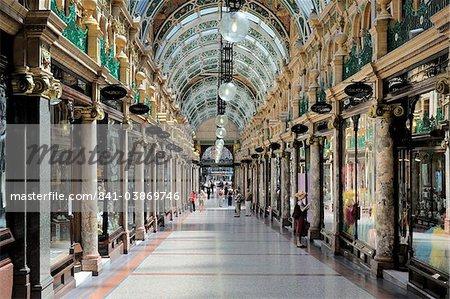 Interior of Cross Arcade, Leeds, West Yorkshire, England, United Kingdom, Europe