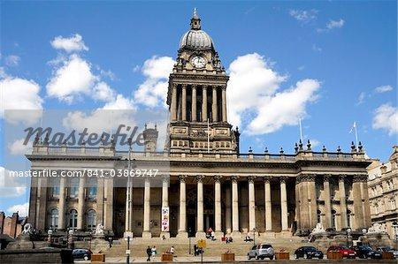 The City Hall, Victoria Square, The Headrow, Leeds, West Yorkshire, England, United Kingdom, Europe
