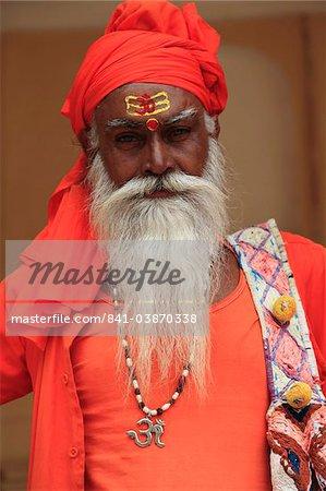 Sadhu (holy man), Jaipur, Rajasthan, Inde, Asie
