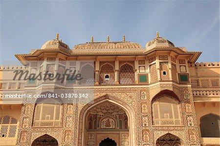 Ganesh porte de Bol, Amber Fort Palace, Jaipur, Rajasthan, Inde, Asie