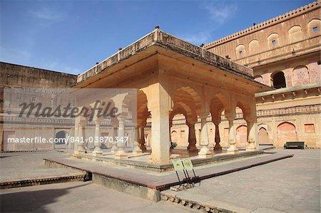Cour de la Reine, Palais de Fort d'Amber, Jaipur, Rajasthan, Inde, Asie