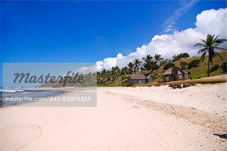 White sandy beach on Ile Sainte Marie, Madagascar, Indian Ocean, Africa