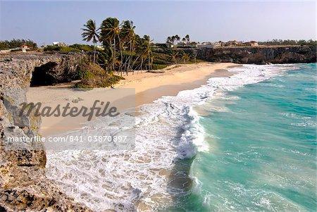 Plage de Bottom Bay, Barbade, Antilles, Caraïbes, Amérique centrale