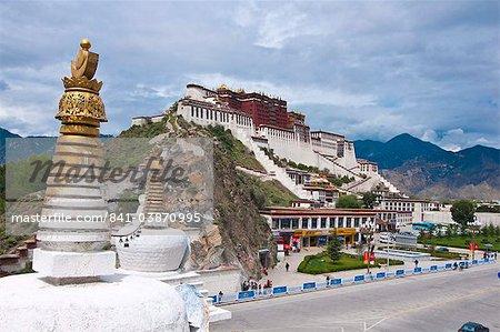 La résidence de chef ancienne palais du Potala du Dalaï Lama, patrimoine mondial UNESCO, Lhassa, Tibet, Chine, Asie
