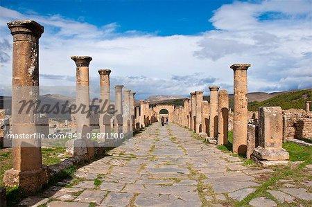 The Roman ruins of Djemila, UNESCO World Heritage Site, Algeria, North Africa, Africa
