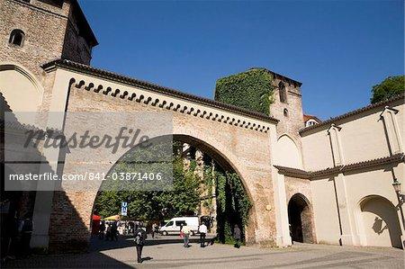 Sendlinger Tor, une des portes historiques de la ville datant du moyen-âge, en Europe centrale de Munich, Bavière, Allemagne,