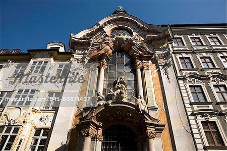 The ornate Baroque style Asam Kirche (St. Johann Nepomuk Church) in Sendlinger Strasse in Munich, Bavaria, Germany, Europe