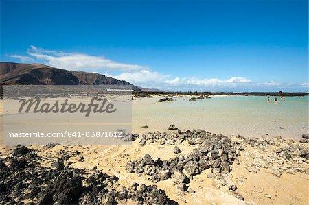 Bajo de los Sables beach near Orzola at the north east tip of the island, Lanzarote, Canary Islands Spain, Atlantic, Europe