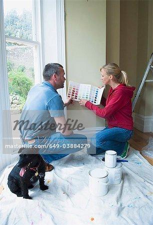 Peinture choisir deux couleurs dans la nouvelle maison
