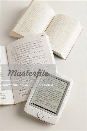 Digitale Buch und Buch