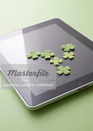 Tablet PC et trèfles
