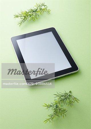 Tablet PC et feuilles