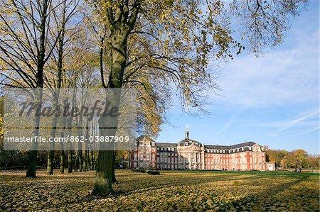Université, château, Münsterland, Rhénanie du Nord-Westphalie, Allemagne