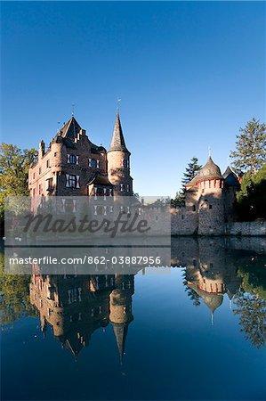 Château de Satzvey, Mechernich-Satzvey, Eifel, Rhénanie du Nord-Westphalie, Allemagne