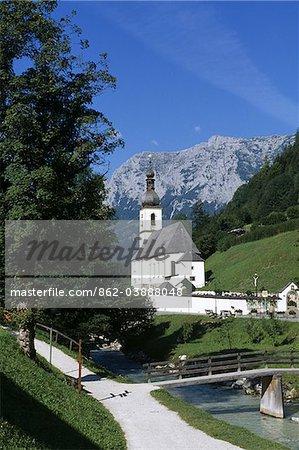 Église de Saint-Fabien & Sebastian, Ramsau, Berchtesgadener Land, Bavière, Allemagne