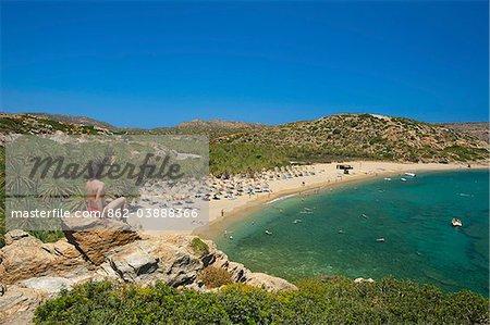 Plage de Vai, East Coast, Crète, Grèce