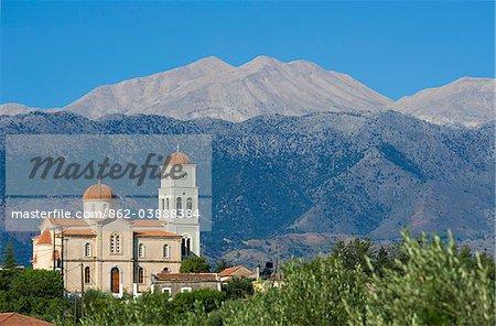 Kalamitsi Amigdalou église près de la Canée, Crète, Grèce