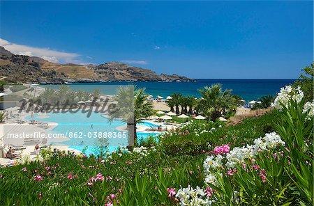 Swimming Pool at Damnoni Beach near Plakias, Crete, Greece