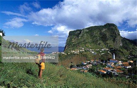 Wandern, Woman, Faial, Madeira