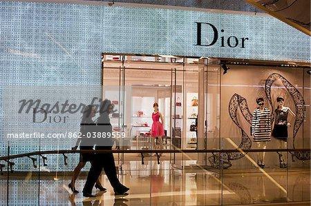 Singapour, Singapour, Orchard Road. Boutique Dior dans le centre commercial Ochard ION.