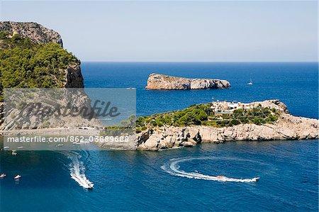 Port Sant Miquel, Ibiza, Balearen, Spanien