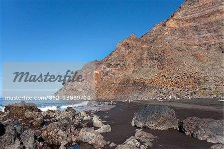 Beach, Playa del Inglés, Valle Gran Rey, La Gomera, Iles Canaries, Espagne