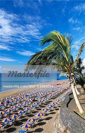 Playa Blanca à Puerto del Carmen, Lanzarote, îles Canaries, Espagne
