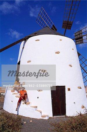 Le moulin de la vallée de Santa Ines, Fuerteventura, îles Canaries,