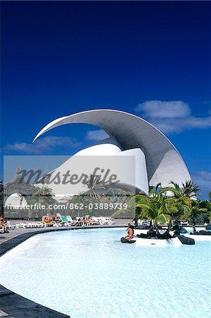Parque Maritimo in Santa Cruz, Tenerife, Canary Islands, Spain