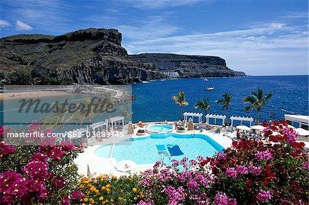 Club de Mar, Puerto de Mogan, Gran Canaria, Iles Canaries, Espagne