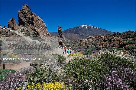 Los Roques und Mount Teide, Teneriffa, Kanarische Inseln, Spanien