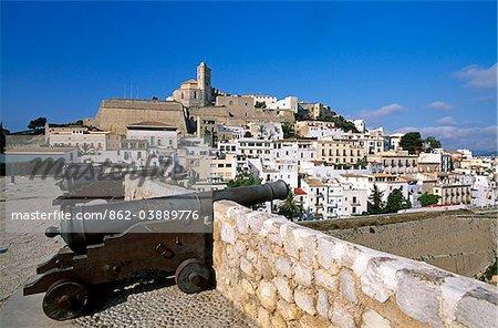 Old Town of Ibiza Town, Ibiza, Balearic Islands, Spain