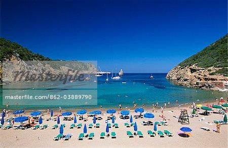 Cala Benirras, Ibiza, îles Baléares, Espagne
