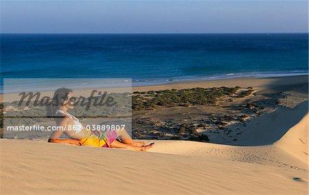 Küste von Sotavento, Fuerteventura, Kanarische Inseln, Spanien
