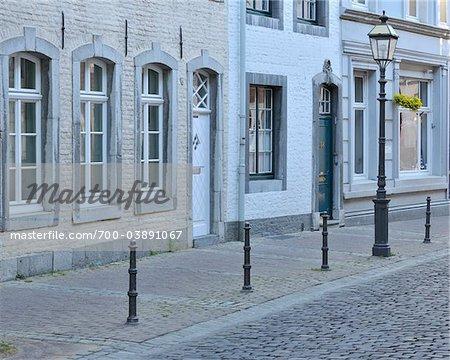 Scène de rue dans le centre-ville historique, Aachen, Rhénanie du Nord-Westphalie, Allemagne