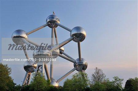 Atomium at Dusk, Brussels, Belgium
