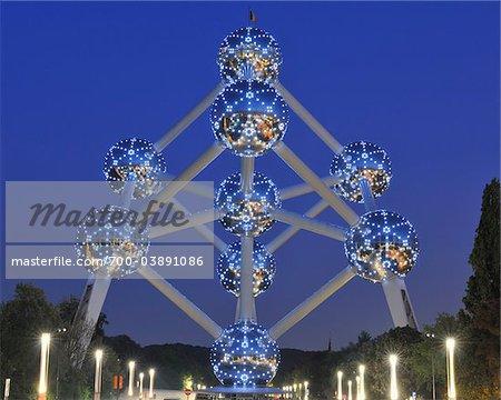 Atomium nachts, Brüssel, Belgien